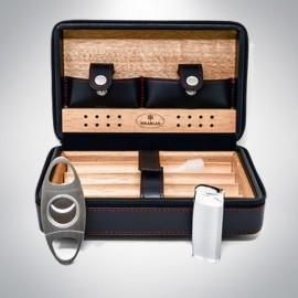 Leather Travel Humidor SET