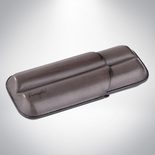 Angelo Cigar Case Leather grey