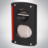 Double Cigar cutter black and red