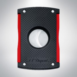 Cigar cutter matt black and red